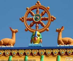 Dharma wheel puzzle
