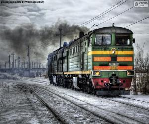 Diesel locomotive puzzle