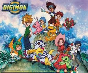Digimon Characters puzzle