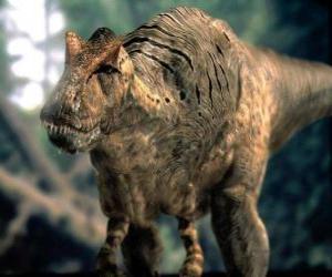 Dinosaur threatening puzzle