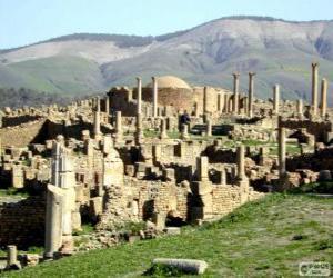 Djémila the best preserved Berbero-Roman ruins in North Africa, Algeria puzzle