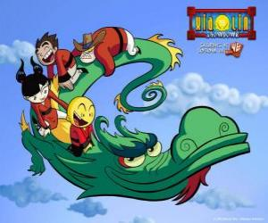 Dojo Kanojo Cho, the dragon of the Xiaolin warriors can change its shape puzzle