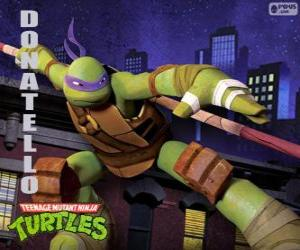 Donatello, the weapon of this ninja turtle is the japanese long staff Bo puzzle