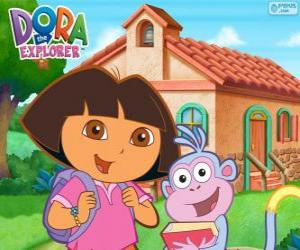 Dora and Boots go to school puzzle