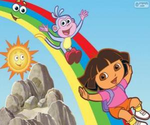 Dora, Boots and the rainbow puzzle