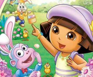 Dora the Explorer at Easter puzzle