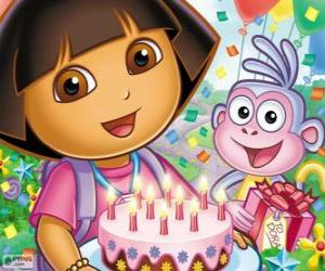 Dora the explorer celebrates her anniversary puzzle