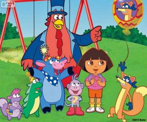 Dora with some friends puzzle