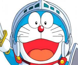 Doraemon in one of his adventures puzzle