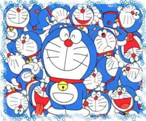 Doraemon is a cosmic cat who comes from the future puzzle