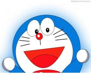 Doraemon is the magic friend of Nobita and protagonist of the adventures puzzle