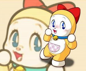 Dorami, Dorami-chan is the little sister of Doraemon puzzle
