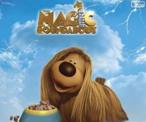 Dougal, the long haired dog from The Magic Roundabout puzzle
