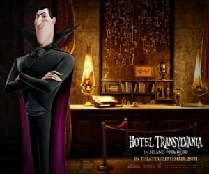 Dracula, the owner of the Hotel Transylvania puzzle