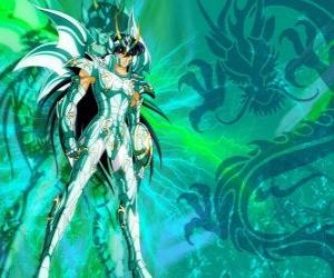 Dragon Shiryu, one of the five heroes of Saint Seiya. The Bronze Knight of the Dragon constellation puzzle