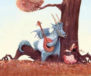 Dragon sung a song to Princess puzzle