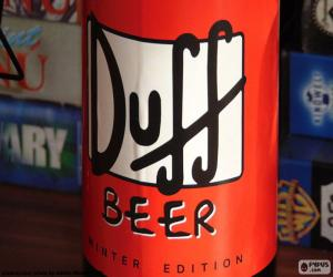 Duff Beer logo puzzle