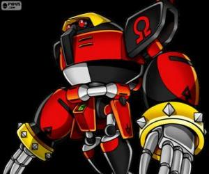 E-123 Omega, robot created by doctor Eggman puzzle