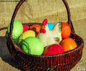 Easter basket puzzle