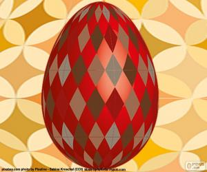 Easter egg with rhombus puzzle