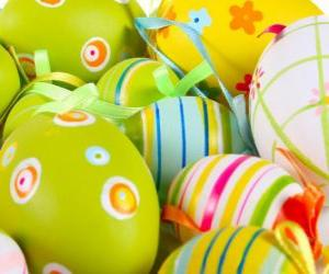 are painting eggs for easter bunnies in the easter eggs
