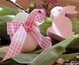 Egg and Easter Bunny puzzle
