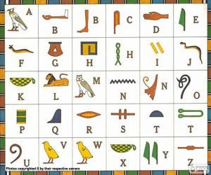 Egyptian alphabet puzzle