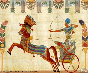 Egyptian Warrior and chariot puzzle