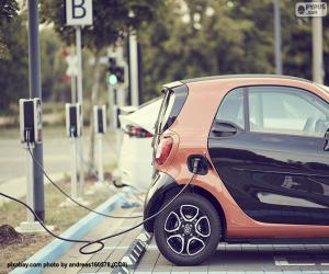 Electric car charging puzzle