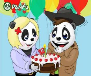 Ella brings a cake to celebrate his birthday Max puzzle
