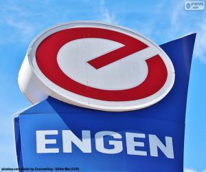 Engen Petroleum logo puzzle