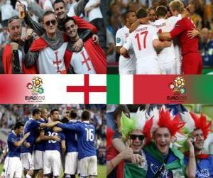 England - Italy, quarter-finals, Euro 2012 puzzle