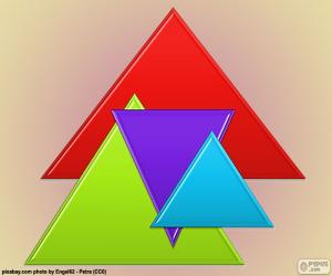 Equilateral triangle, regular polygon with three sides of equal length puzzle