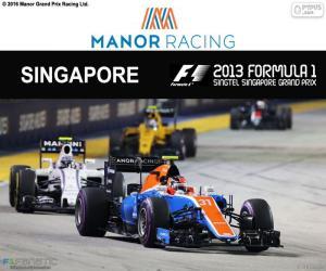 Esteban Ocon, 2016 Singapore Grand Prix puzzle