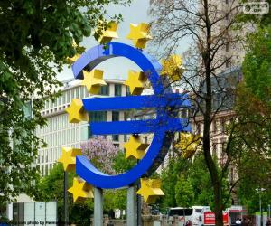 European Central Bank logo puzzle