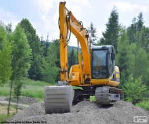 Excavator yellow puzzle