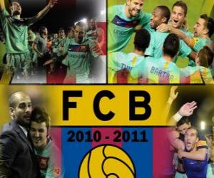 F.C Barcelona Champion League BBVA 2010 - 2011 puzzle
