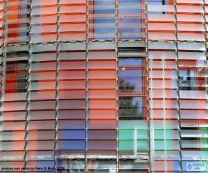 Facade Torre Agbar, Barcelona puzzle
