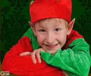 Face of a Christmas Elf puzzle
