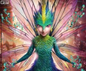 Fairy dot to dot. Character from Rise of the Guardians puzzle