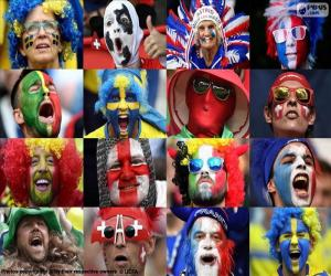 Fans in Euro 2016 puzzle