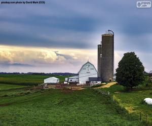 Farm in Wisconsin, United States puzzle