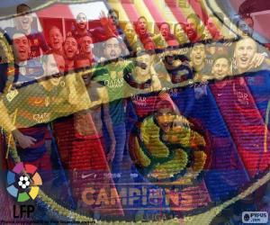 FC Barcelona, 2015-2016 champion puzzle