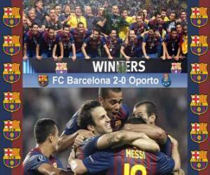 FC Barcelona Champion 2011 UEFA Super Cup puzzle