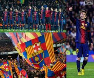 FC Barcelona, champion 2012-2013 puzzle
