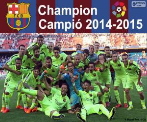 FC Barcelona, champion 2014-2015 puzzle