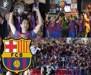F.C Barcelona champion Copa del Rey 2011-2012 puzzle