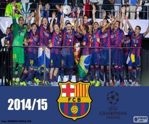 FC Barcelona Champions League 14-15 puzzle