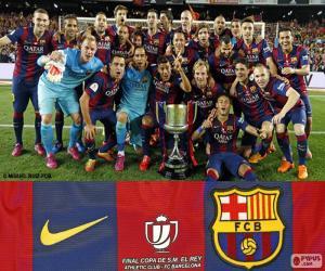 FC Barcelona Copa del Rey 2014-2015 puzzle