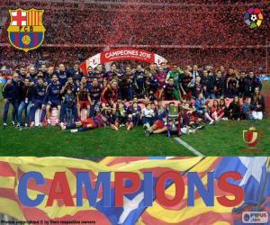FC Barcelona, Copa del Rey 2015-2016 puzzle